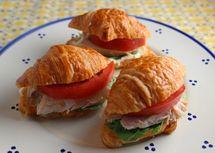 Mini Chicken Croissant Sandwiches http://busycooks.about.com/od/coldsandwichrecipes/r/Mini-Chicken-Croissant-Sandwiches.htm