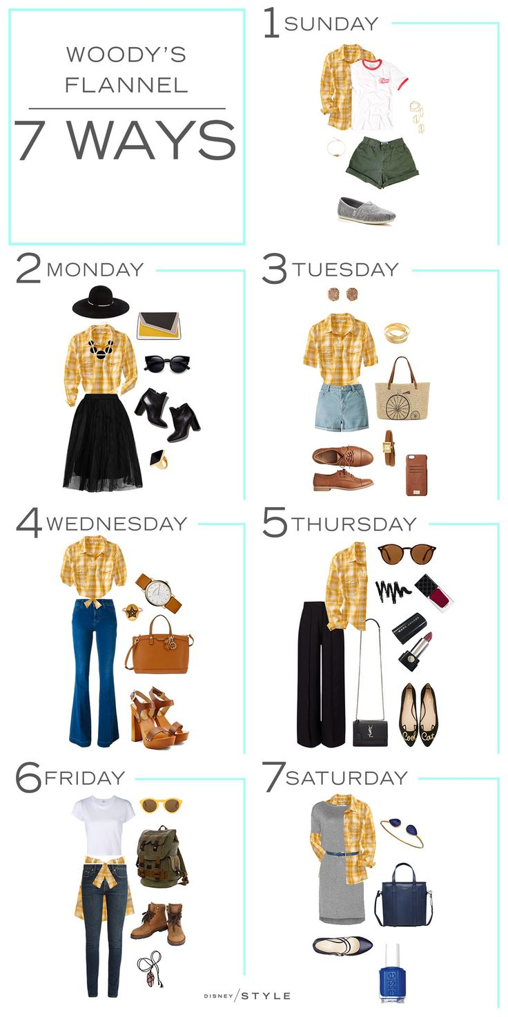 7 Days, 7 Ways: Woody's Yellow Flannel Shirt | Toy Story | [ http://di.sn/6003B43fS ]