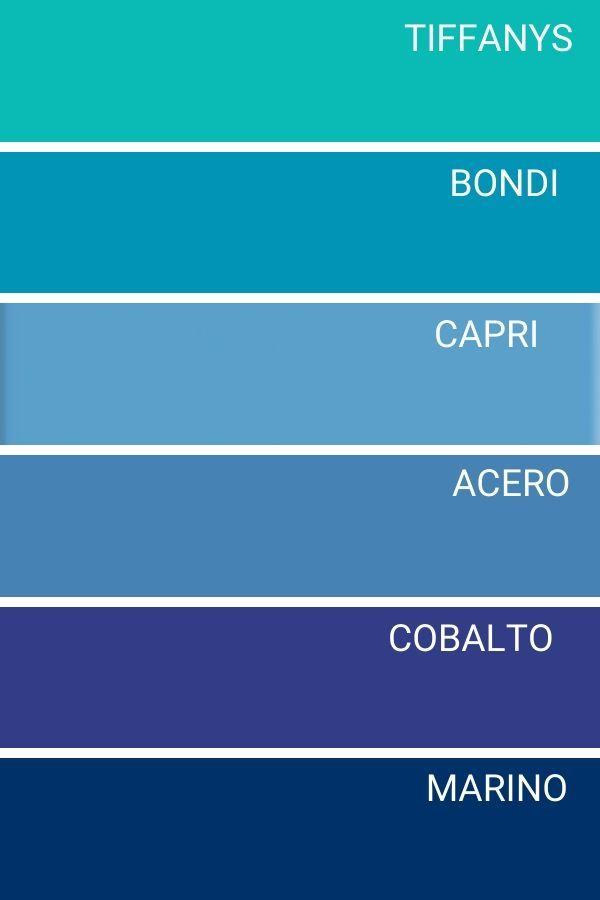 Gama De Colores Azules En 2020 Gama De Colores Azules Nombres De Colores Paletas De Colores Brillantes
