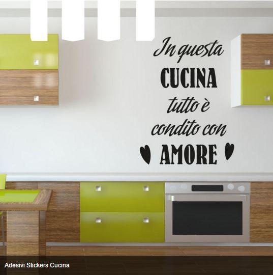 Arreda la tua casa con originalità Adesivi Murali #educazione  per decorare in modo semplice e fantasioso i tuoi ambienti. SI APPLICANO CON FACILITA'  La personalizzazione degli ambienti è un modo economico per ridare una nuova vita alla casa. http://www.quadriperarredare.it/shop/adesivi-murali-frasi-cucina/  Pellicola adesiva colorata per muro e mobili. Personalizzabile nel Colore e nella Misura.