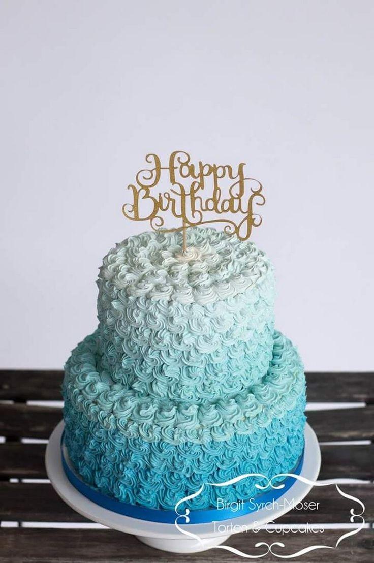 Buttercream Cake, Buttercream Roses, Buttercreme, Geburtstagstorte, blaue Rosen