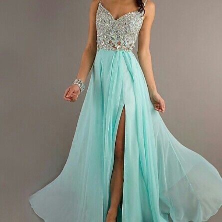 Formal dress, maybe with peach instead of mint?