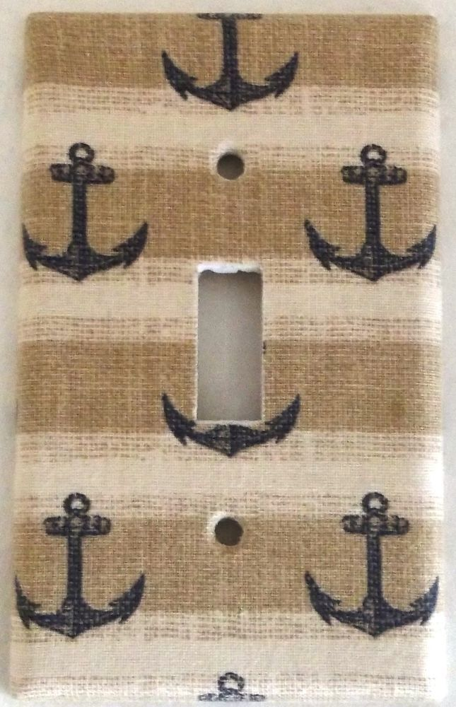 Anchor Nautical Marine Design Houseware Bedroom Bathroom Wall Decor Light Switch in Home & Garden, Home Improvement, Electrical & Solar | eBay