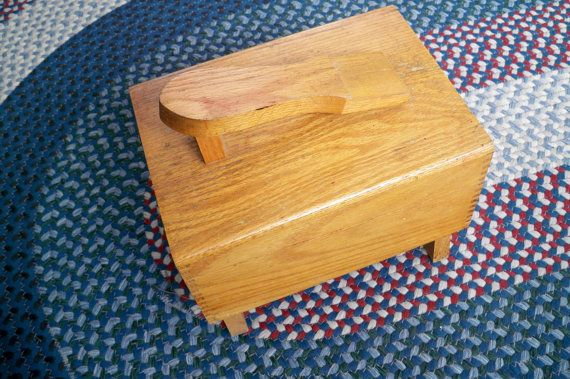 Vintage Housewares Wooden Shoe Box 1950 Shoe by ThisandThatCapeCod, $20.50