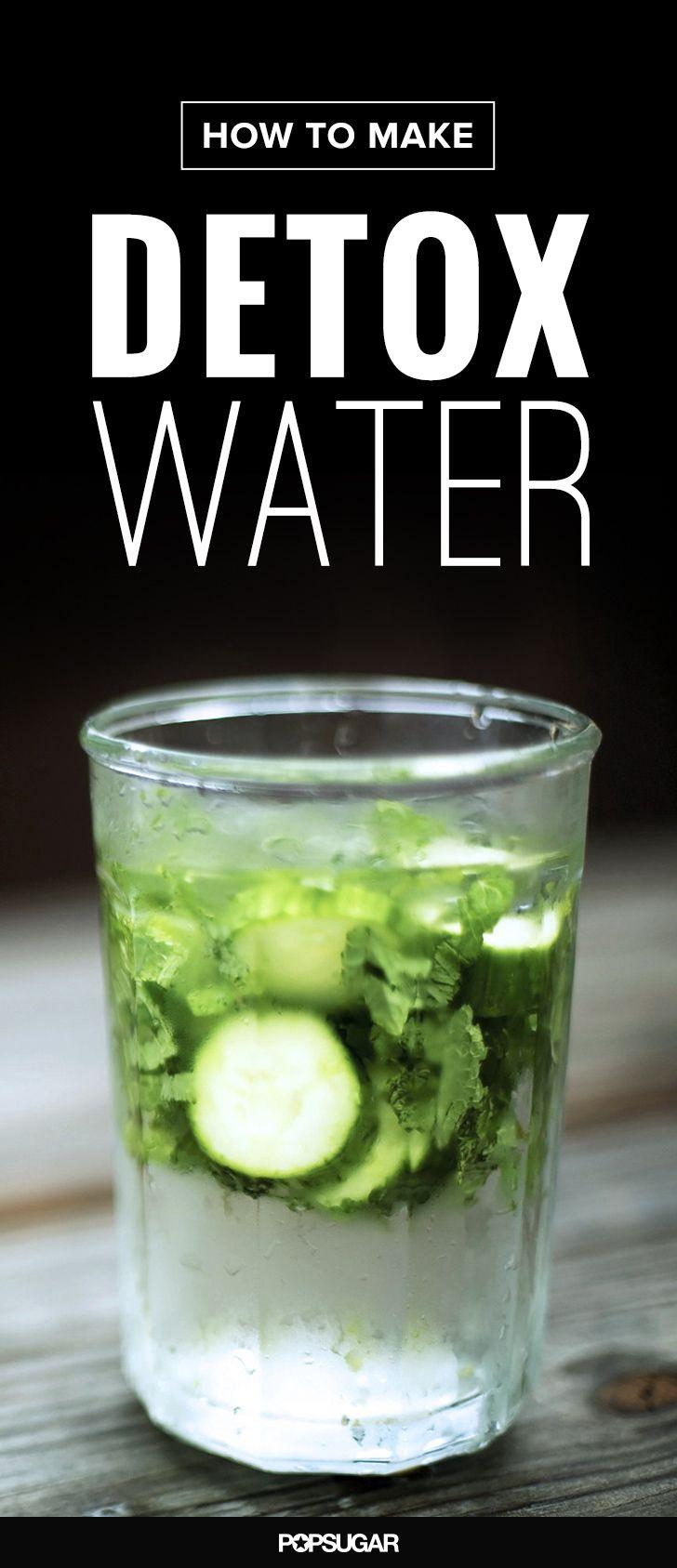 Cucumber, lemon mint and GINGER detox water