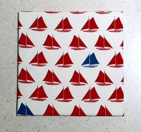 Nautical Canvas Nursery Playroom - Ivory Red Blue BOATS!! | Made By Becky