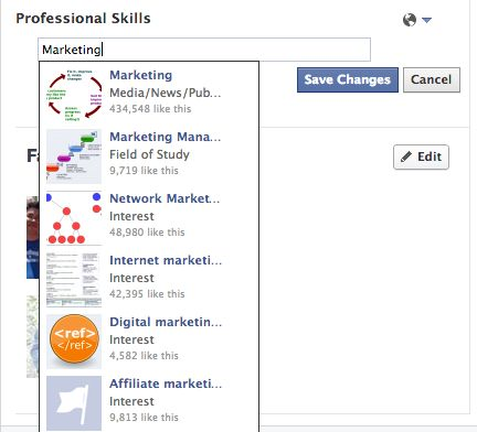 Facebook has quietly added a LinkedIn-like Professional Skills section to user profiles. Update yours.