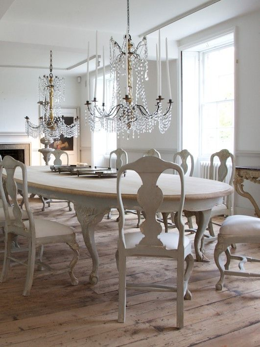 Charming shabby chic French inspired dining room