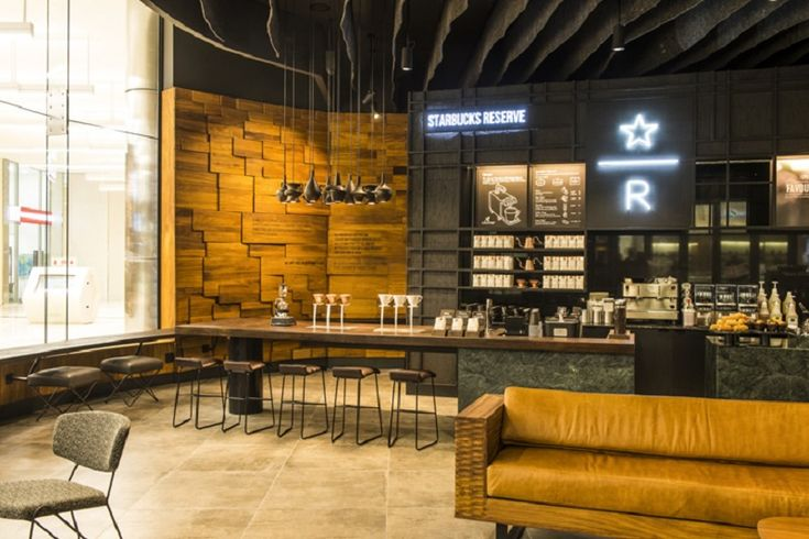 Starbucks with an interior inspired by local arts in