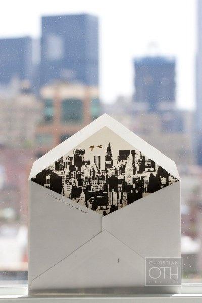 NYC skyline envelope liner.
