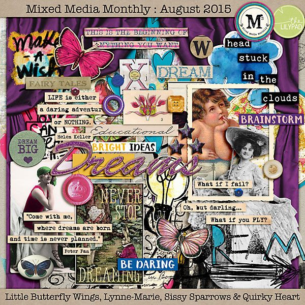 Mixed Media Monthly - August '15 Main Kit