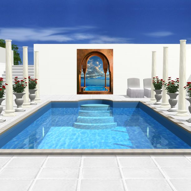 Decor piscine de reve arcade 613 613 for Deco piscine design