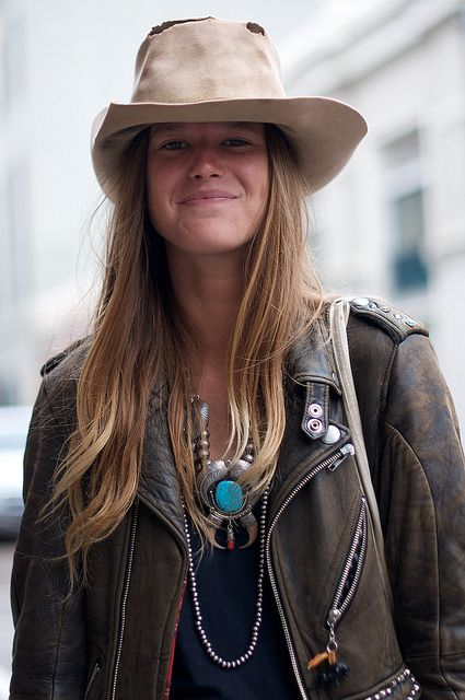 Anne and her hat. Boho chic defined.