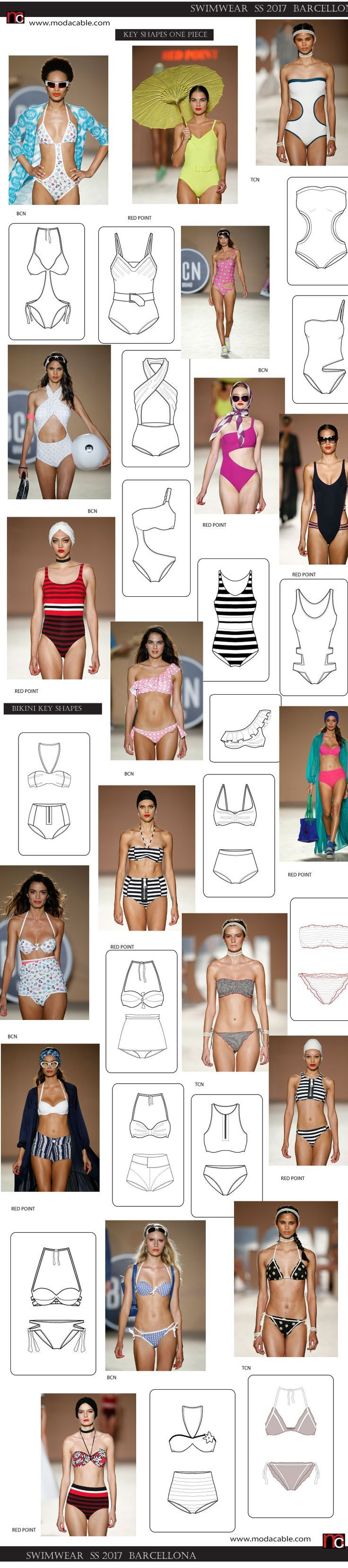 SS 2017 swimwear trends from Barcellona only at www.modacable.com. subscribe to se all...