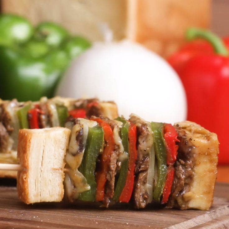 Ultimate Cheesesteak Skewers