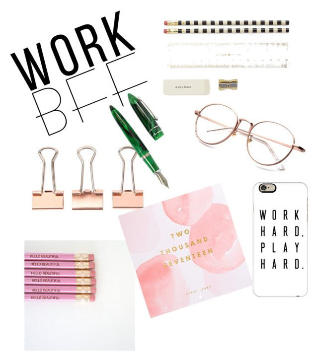 """Office gifts"" by fpantopikou on Polyvore featuring interior, interiors, interior design, home, home decor, interior decorating, Kate Spade, Casetify, Stipula and Thrive"