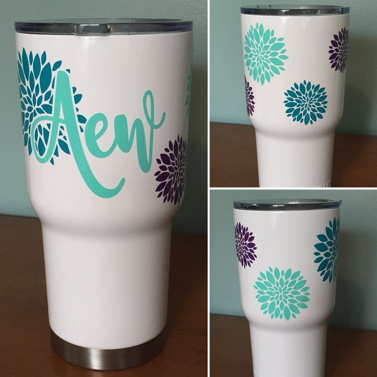 How pretty is this custom order white tumbler?? Limited inventory is available on our powder coated tumblers. Get yours before they are all gone!
