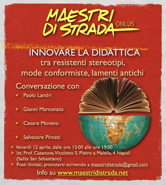 """Bisogna davvero innovare la didattica? Come posso innovare la mia didattica?  Il libro di testo digitale manca di appeal? Perché con i corsi sulle tecnologie non si innova la didattica?  I libri di testo servono? Insegnare stanca?  Sono solo alcuni fra gli argomenti che verranno trattati durante l'incontro """"INNOVARE LA DIDATTICA tra resistenti stereotipi, mode conformiste, lamenti antichi"""" http://www.maestridistrada.net/omast2/?p=1605"""