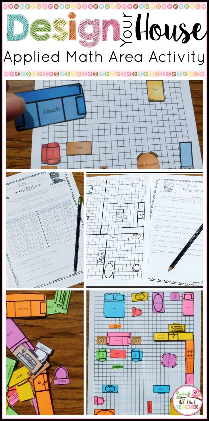 Engage Students With This Estimating Area Practice Activity Where Design Their Own House Furniture
