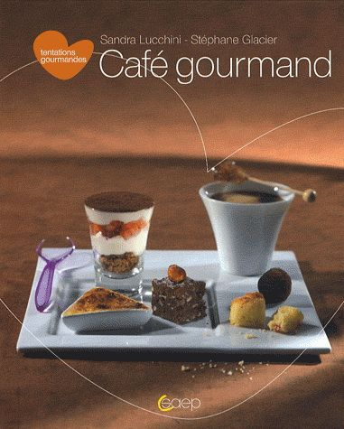 Bite-sized desserts served with coffee