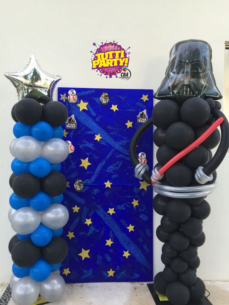 Darth vader balloons decorations, star wars decorations, star wars Party idea, darth sculpture