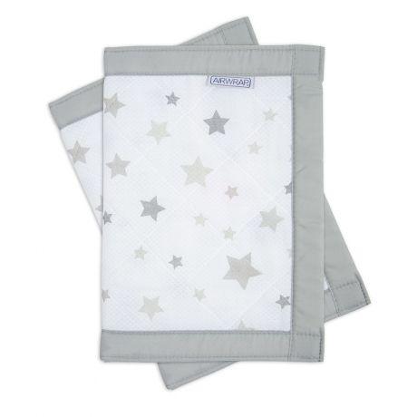 Airwrap Star Silver - 2 Sides - Breathable Muslin Cot Bumper Alternative - Safer…