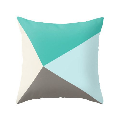Teal and brown cushion cover teal and brown throw by LatteHome