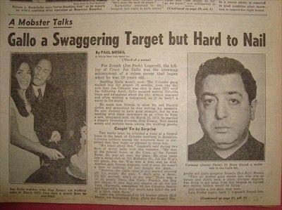 2010119W JOE PESH, KILLING OF CRIME BOSS JOE GALLO 1974 CRIME OLD NEWSPAPER (07