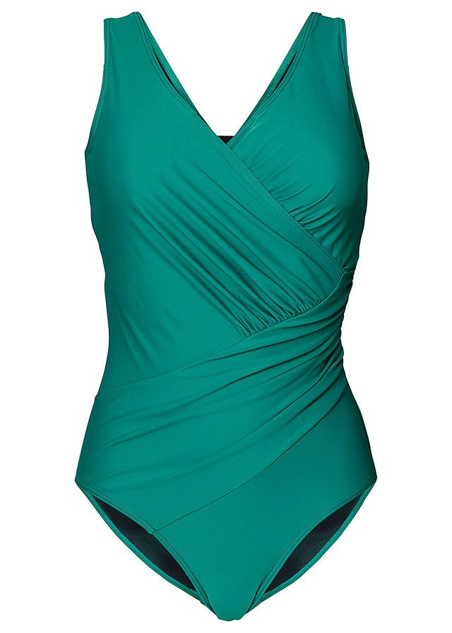 3f97077fc04 Kostium kąpielowy modelujący sylwetkę • szmaragdowy • bonprix sklep | Iwona  | Women's plus size swimwear, Retro swimwear, One Piece Swimsuit