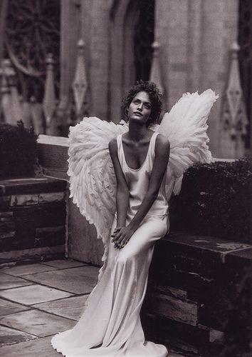 Peter Lindbergh - Amber Valletta: Ambervalletta, Angel Wings, Peterlindbergh, Fallen Angel, Peter O'Tool, Harpers Bazaars, Peter Lindbergh, Amber Valletta, Fashion Shooting