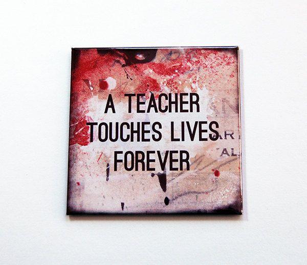 Teacher Magnet, gift for teacher, Fridge magnet, Teacher Appreciation, magnet, end of school year, teacher gift, abstract design (5476) by KellysMagnets on Etsy