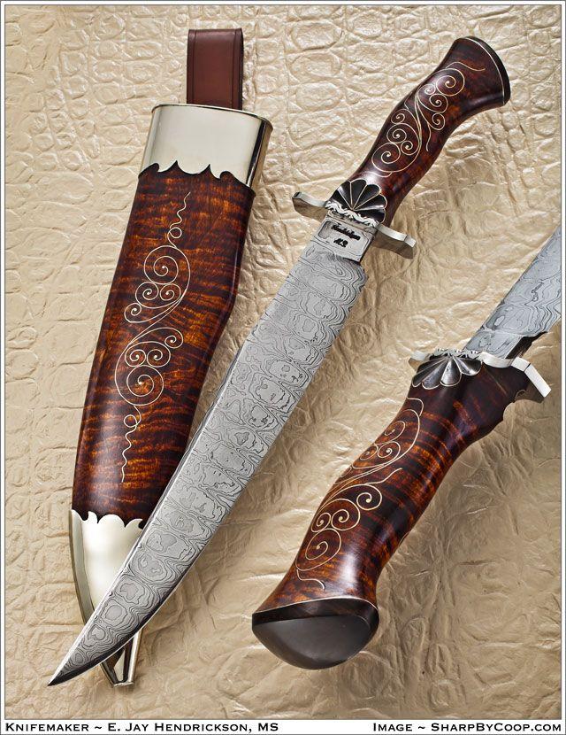 Knifemaker E. Jay Hendrickson, MS.  Photos SharpByCoop