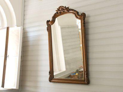 Truco para colgar un espejo inclinado