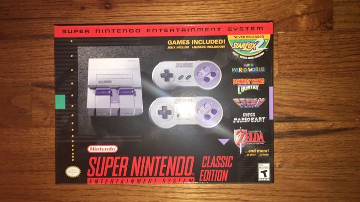 SNES Classic Mini Edition - Super Nintendo Entertainment System - Brand New! | eBay