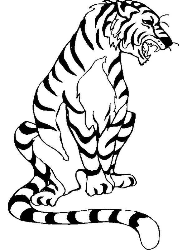 Angry Tiger In A Bad Mood Ausmalbilder Online Ausmalbilder Herunterladen Und Ausdrucken Ausmalbilder Ausdrucken Ausmalen