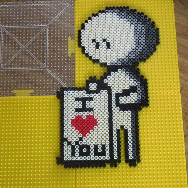 Nonnetta love hama beads by sunnyscraftzone