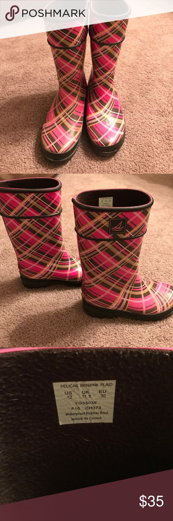 Girls Sperry Rain boots Girls Sperry Rain Boots Size 12 worn a few times great condition Sperry Top-Sider Shoes Rain & Snow Boots