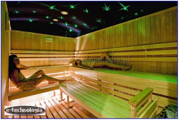 oświetlenie sauna - gwieździste niebo sauna - nowa sauna e-technologia