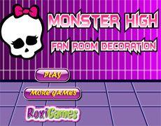 Monster High Fan Room Decoration | Juegos Monster High