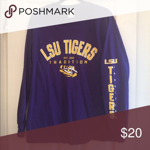 Geaux Tigers! Long sleeve LSU shirt Men's long sleeve Louisiana State University shirt. Brand new, never worn (no tags on item when purchased) Shirts Tees - Long Sleeve