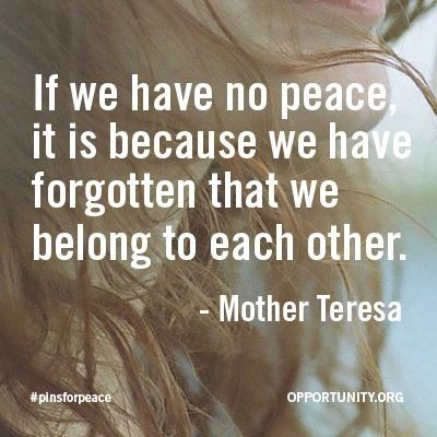 Join with your brothers and sisters for peace. #pinsforpeace