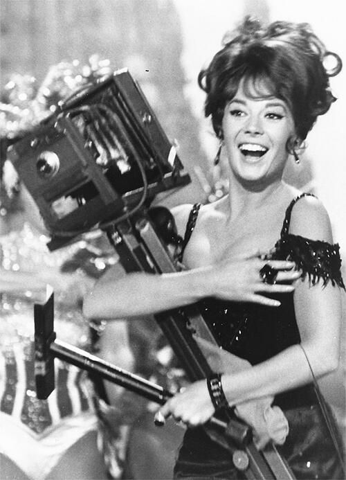 "NATALIE WOOD (in ""The Great Race"") - the photographer in me!  I love Natalie ~"
