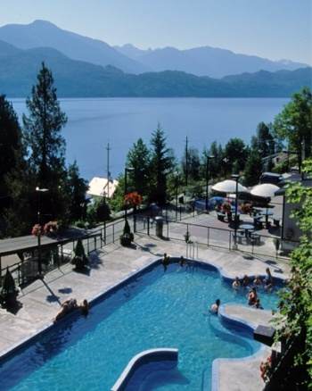 Ainsworth Hot Springs Resort north of Nelson, B.C., Canada