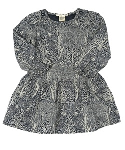 This printed dress can be worn with leggings or tights! Looks great with brown, red, or cream accessories!