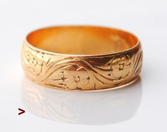 1903 Antique European Men Ring 18K Gold Size 11.5US / 5