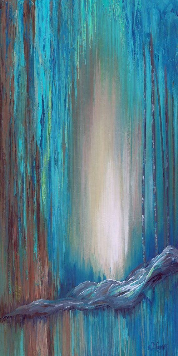 Turquoise Blue Brown And Teal Vertical Wall Art Canvas Large Canvas Wall Art Vertical Wall Art Etsy Wall Art