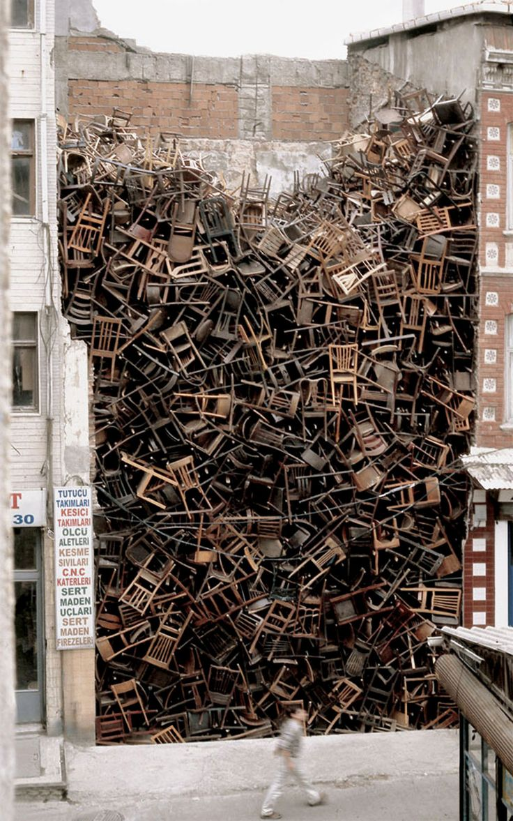 Doris Salcedo - The Istanbul Project: 1,600 Chairs (2003)