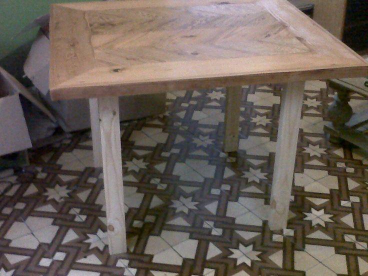 Mesa 100cmx90cm para 4 personas tablero de madera de - Tableros de pino ...