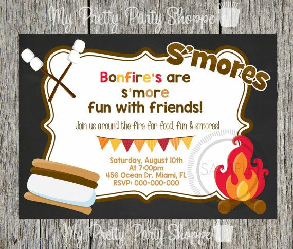 Bonfire / Fire Pit / S'more / S'mores / by MyPrettyPartyShoppe