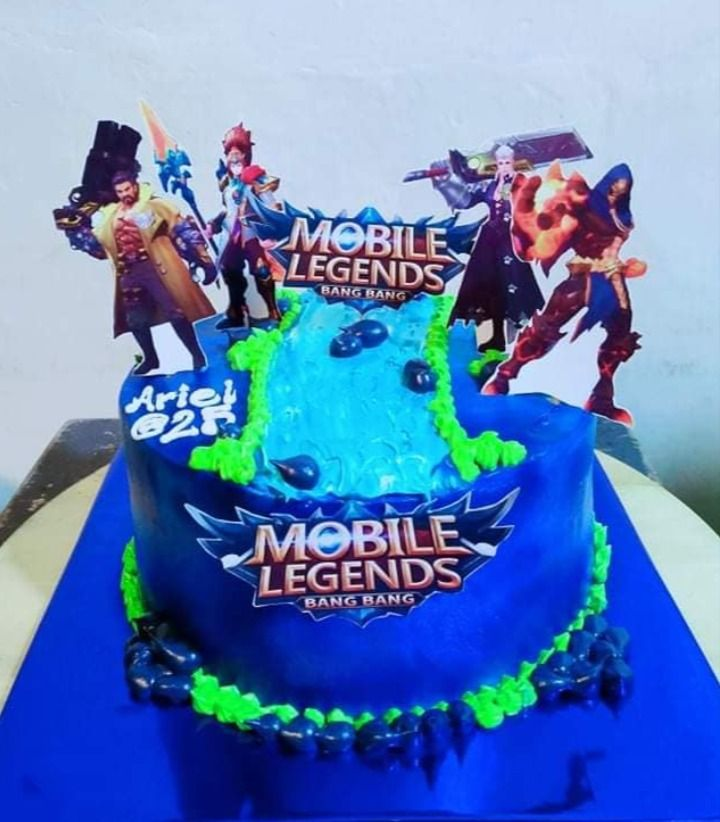 birthday cake mobile legends cake design MOBILE LEGENDS BIRTHDAY CAKE  Cake designs birthday, Nature cake